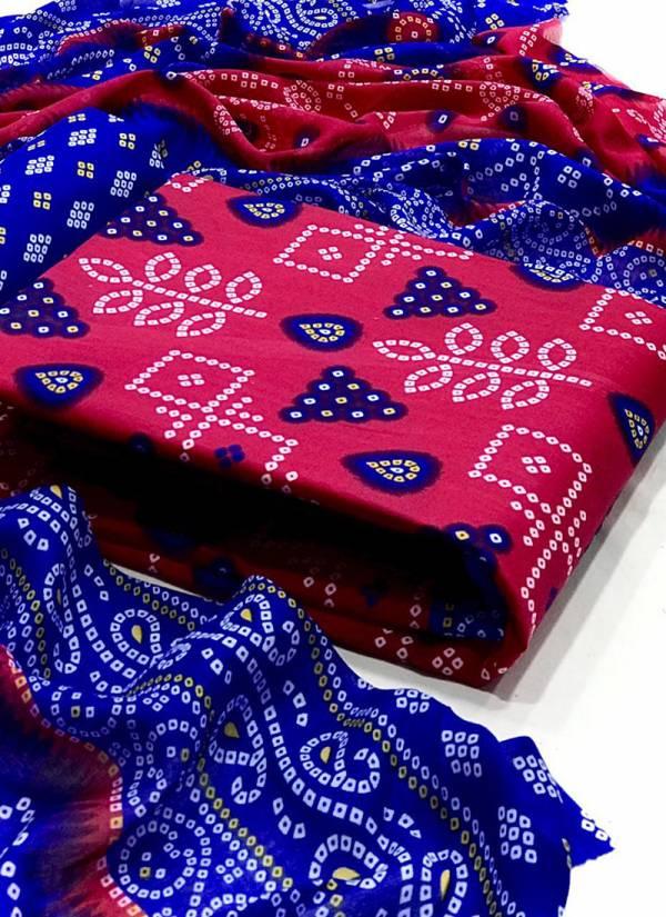 VT Designer Bandhani Patiyal Vol 1 Series 1-6 Cotton With Bandhej Printed New Designer Casual Wear Non Catalog Salwar Suits Collection