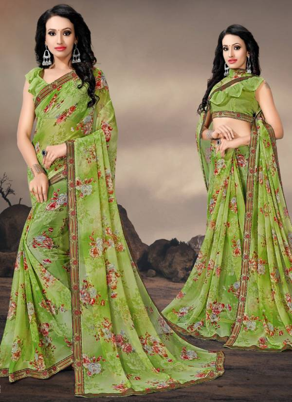 Kodas Manali Series 6037-6044 Georgette Printed Daily Wear Fancy Saree Collection