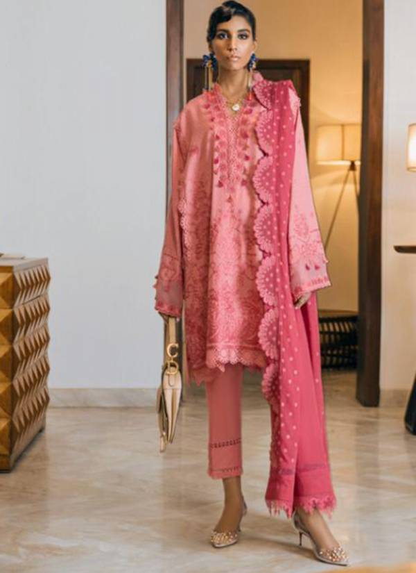 Volono Trendz Modern Memsaab Series MM-4005-MM-4009 Pure Cotton Lawn Fancy Embroidery Work Pakistani Salwar Suits Collection