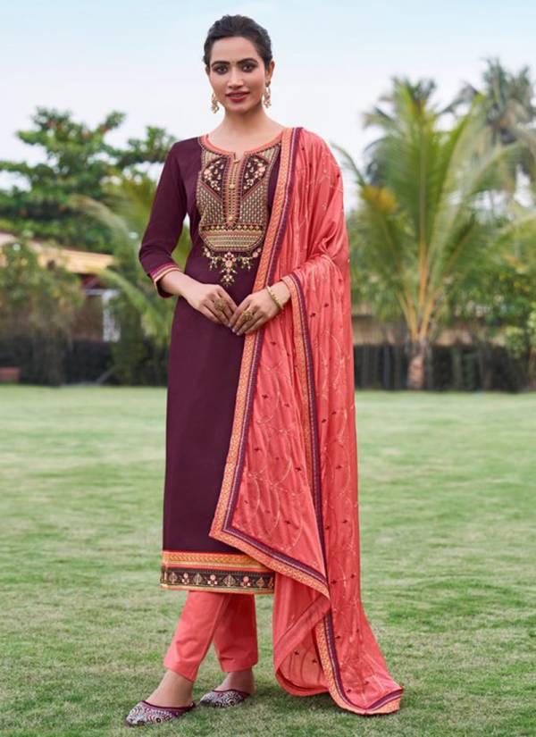 KVS Kadlee Jam Silk With Embroidery Work Wedding Wear Designer Salwar Suits Collection