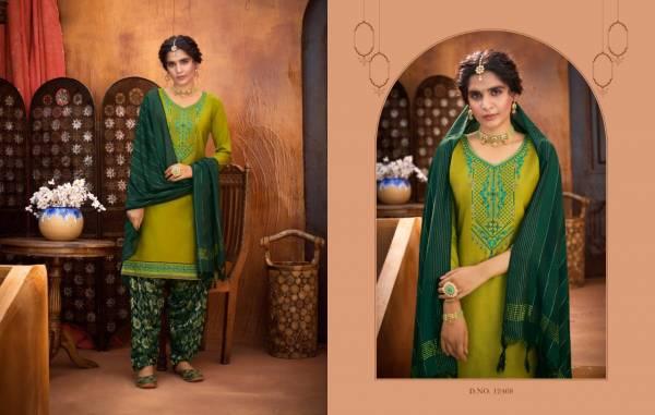 Kalaroop Rivaaz by Patiyala Vol - 06 Jam Silk Regular Wear Patiala Suit Collection