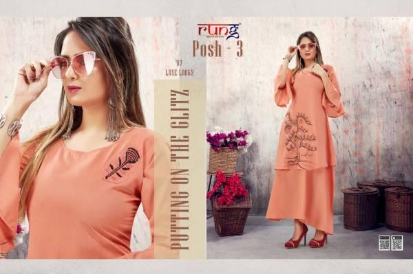 Rung Posh Vol 3 Fancy Designer Long Festival Wear Gowns Collection