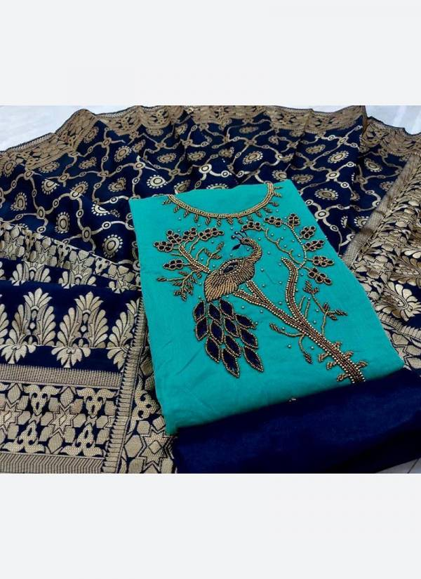 Shree Bherav Suits Series MS-1-MS-4 Modal Silk With Fancy Hand Work New Designer Casual Wear Salwar Suits Collection