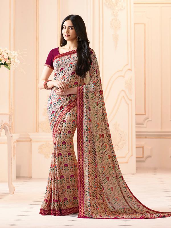 Nakshatra Fashion Studio Vol 2 Georgette Designer Printed Work Daily Wear Designer Sarees Collection