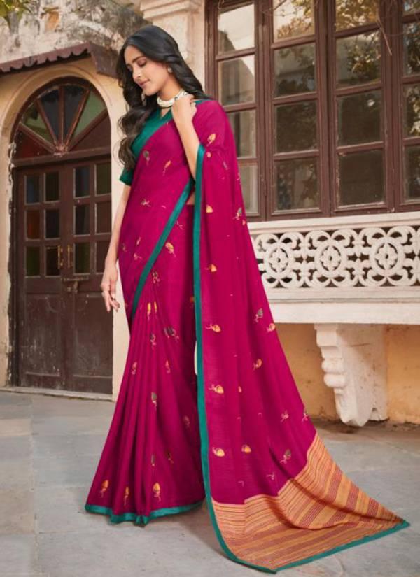 5D Designer Utsav Chiffon Fancy Printed Daily Wear Designer Sarees Collection