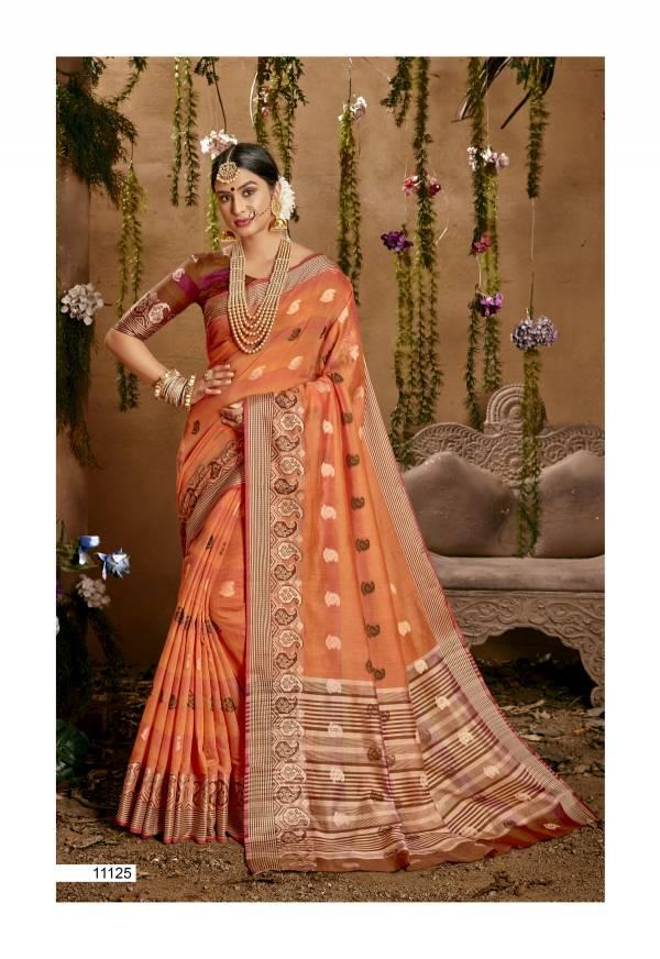 Shakunt Weaves Samitha Vol 2 Series 11121-11128 Cotton Jacquard Exclusive Designer Festival Wear Sarees Collection
