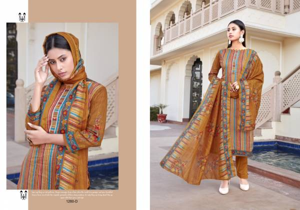 Bipson Kaira 1280 Cotton Satin Printed New Fancy Straight Suits Collection