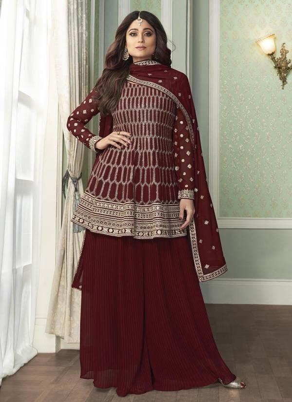 Aashirwad Peplon Georgette Fancy Hand Work Wedding Wear Designer Salwar Suits Collection