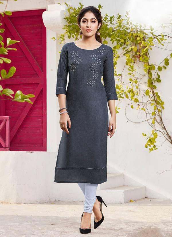 Lili Suhaani Cotton Slub Fancy Embroidery Work Regular Wear Designer Kurti Collection