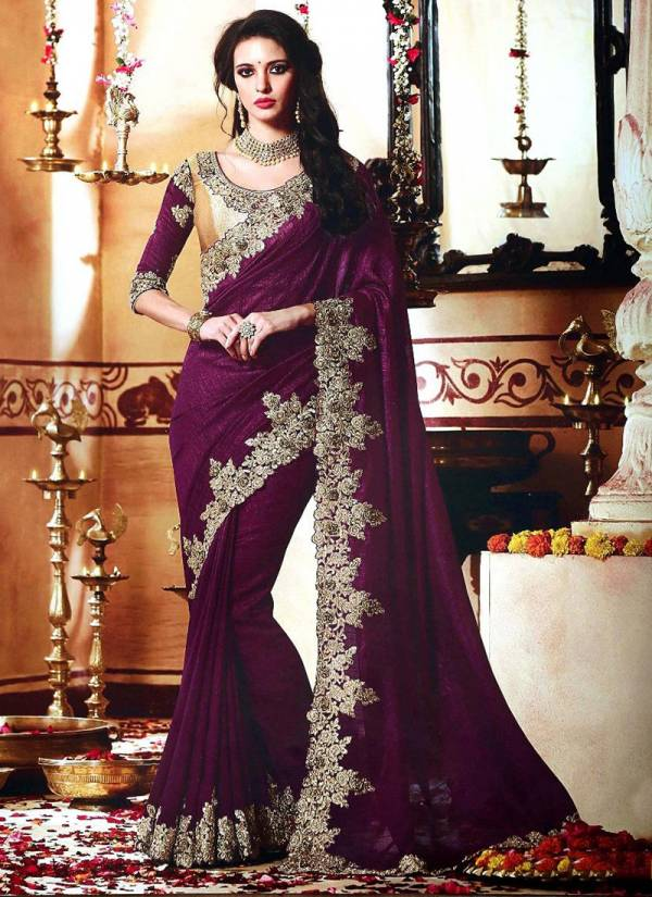 Ladys Ethnic Honey preet Gold Series 3501-3507 Vichitra Silk With Banglori Blosue Embroidery WOrk Sarees Collection