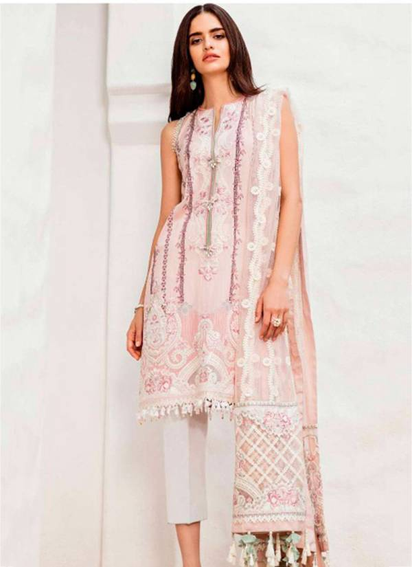 Sanjana Designer Baroque lawn Cotton Printed With Heavy Embroidery Work Designer Pakistani Suits Collection