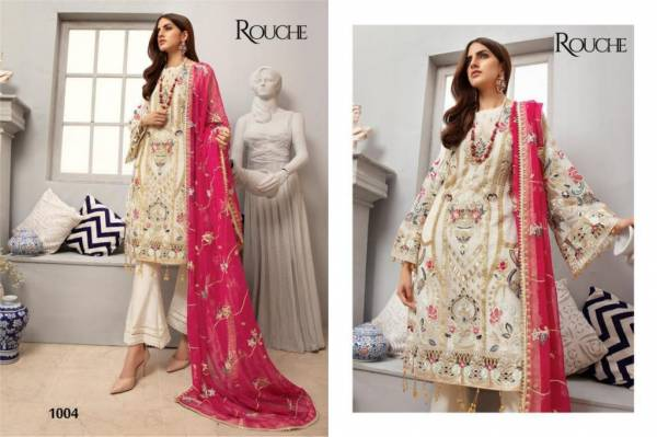 Rouche Emaan Adeel Heavy Georgette With Sequence Hand Work Pakistani Suits Collection