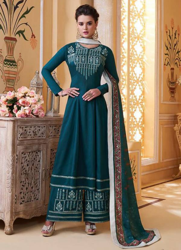 Sajawat Creation Sarthi Vol 9 Series 761-765 Muslin With Heavy Embroidery Work Stitch Top Festival Wear Suits Collection (Only Top Stitched)