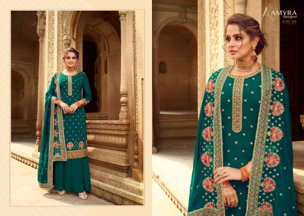 Aamyra Designer Jasmine Georgette With Heavy Exclusive Embroidery Work Palazzo Suits Collection