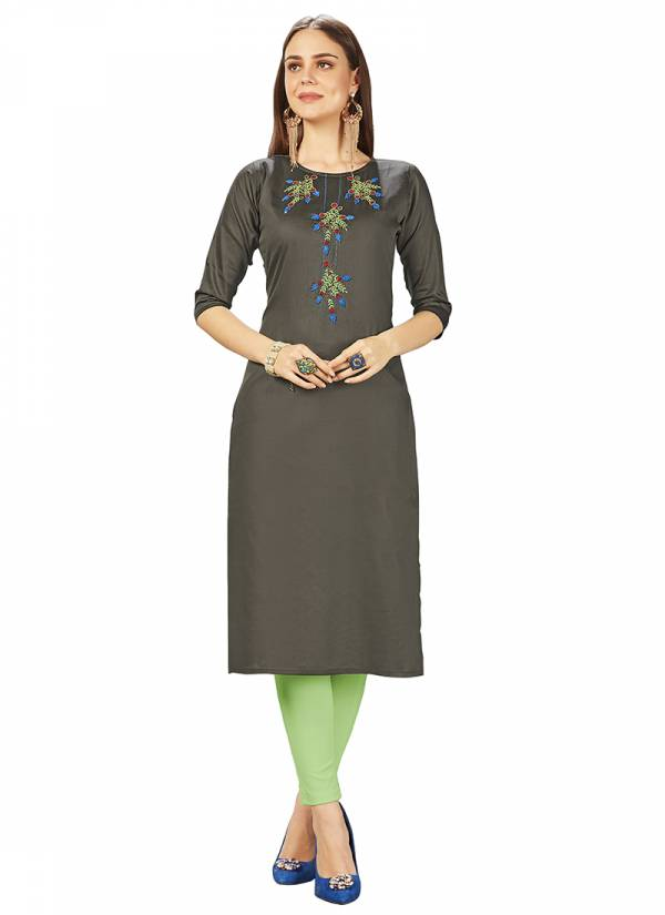 Velentino Trend Series 454-458 Jam Silk  Hand Work Daily Wear New Designer Straight Cut Kurtis Collection