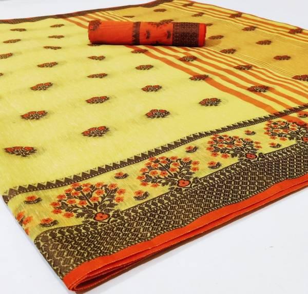 Nakshatra Fashion Studio Vol 18 Soft Linen Saree With Zari Border And Fancy Hand Work Butti Designer Sarees Collection