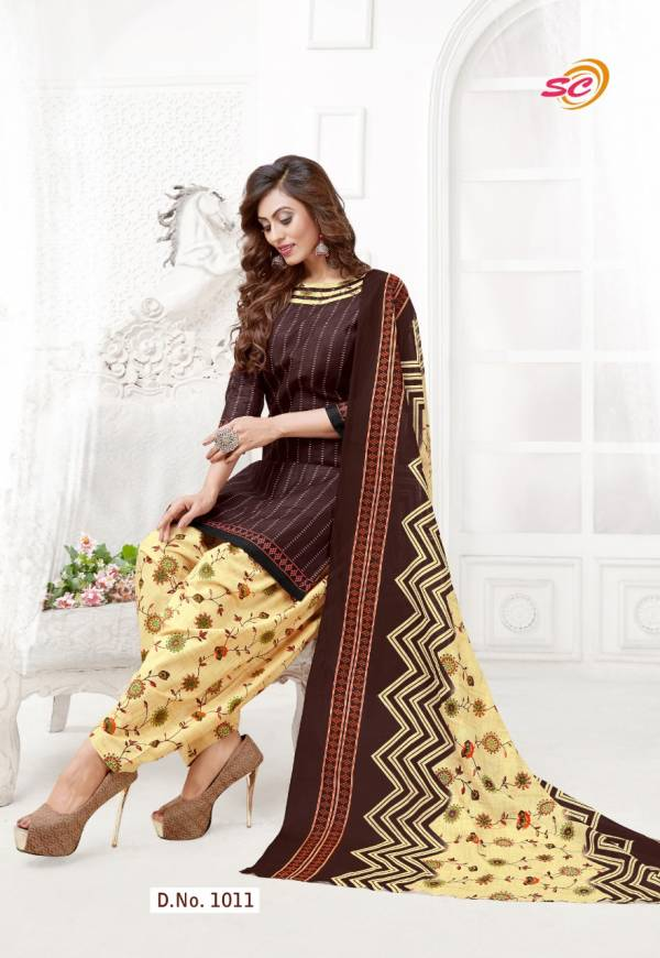SC Creation Panetar Pure Cotton Casual Wear Readymade Patiyala Suit Collection