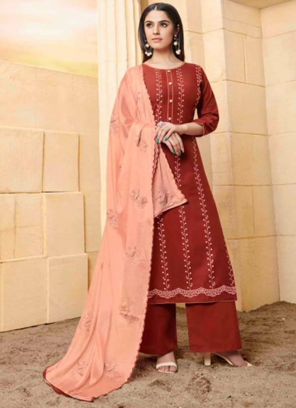 Kalarang Jalwa Series 1781-1784 Rayon With Embroidery Work New Designer Festival Wear Suits Collection