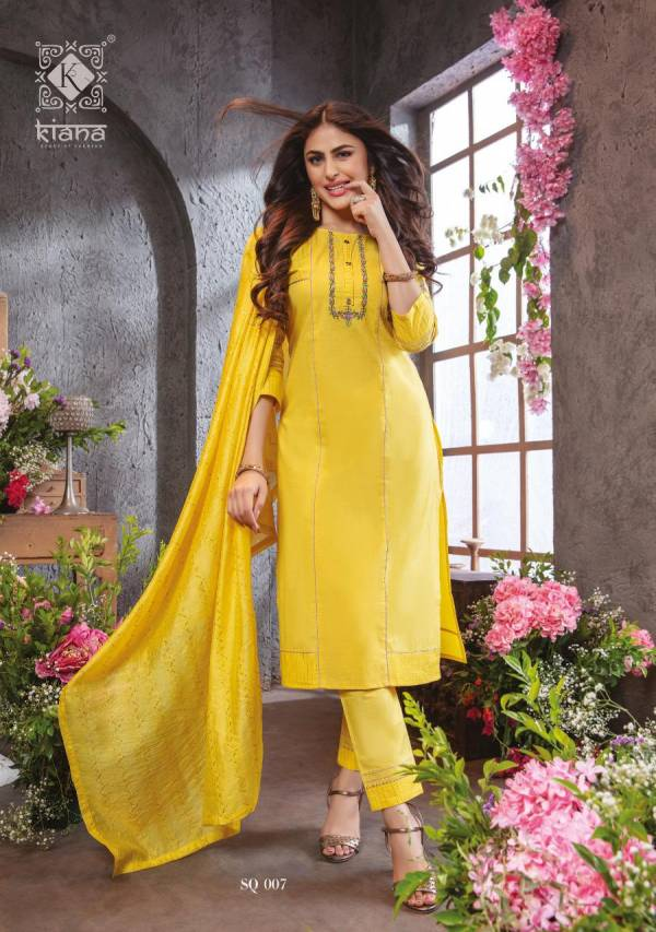 Kiana Summer Queen Pure Cotton With Thread Work Readymade Salwar Suits Collection