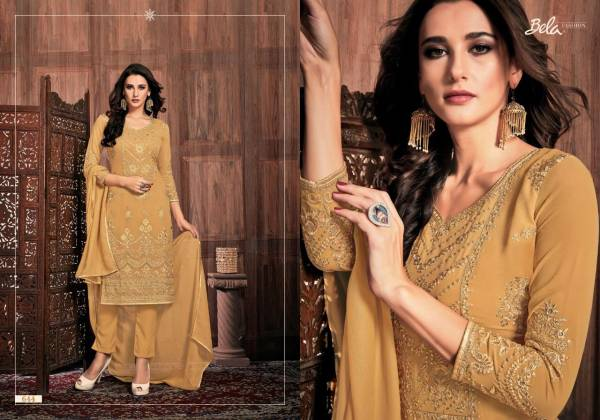 Bela Fashion Presia Series 639-645 Georgette Dyed With Embroidery Work Ramzan Eid Special  Salwar Suits Collection