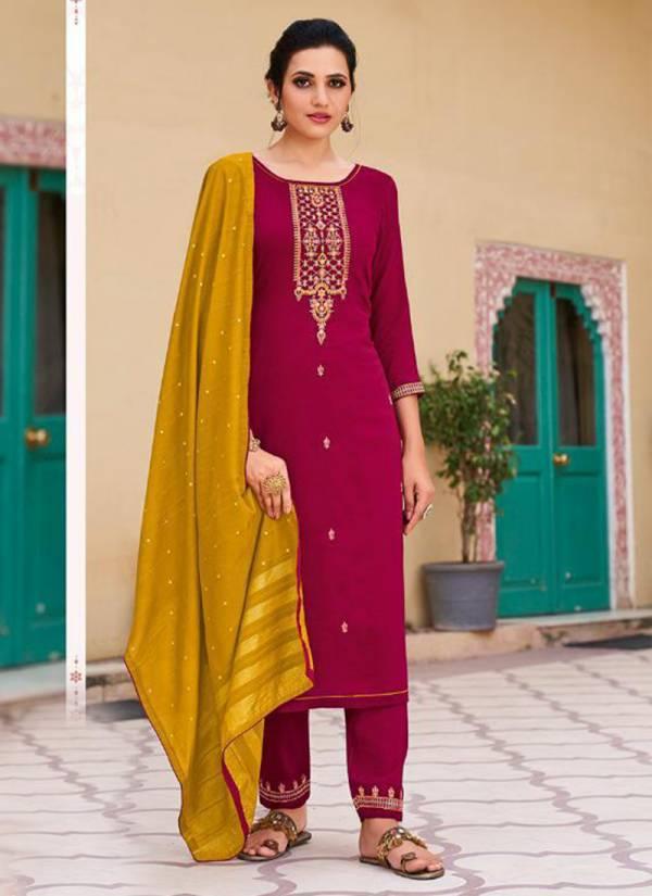 Kessi Fabric Rangoon Glory Parampara Silk Readymade Salwar Suits Collection