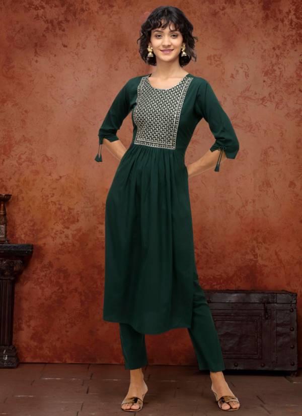Syasii Designer Irish Series SD090 - SD093 Poly Makhan Traditional Wear Straight Cut Kurti Collections