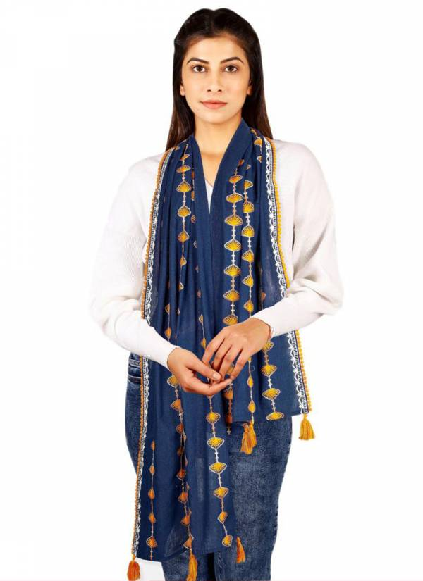 Mesmora Blooms And Blossoms Series 1701-1714 Khadi Cotton With Embroidery Work New Designer Dupatta Collection
