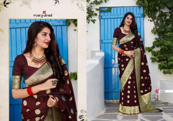 Manjubaa Mahadevi Silk Banarasi Sela Designer Wedding Wear Sarees Collection