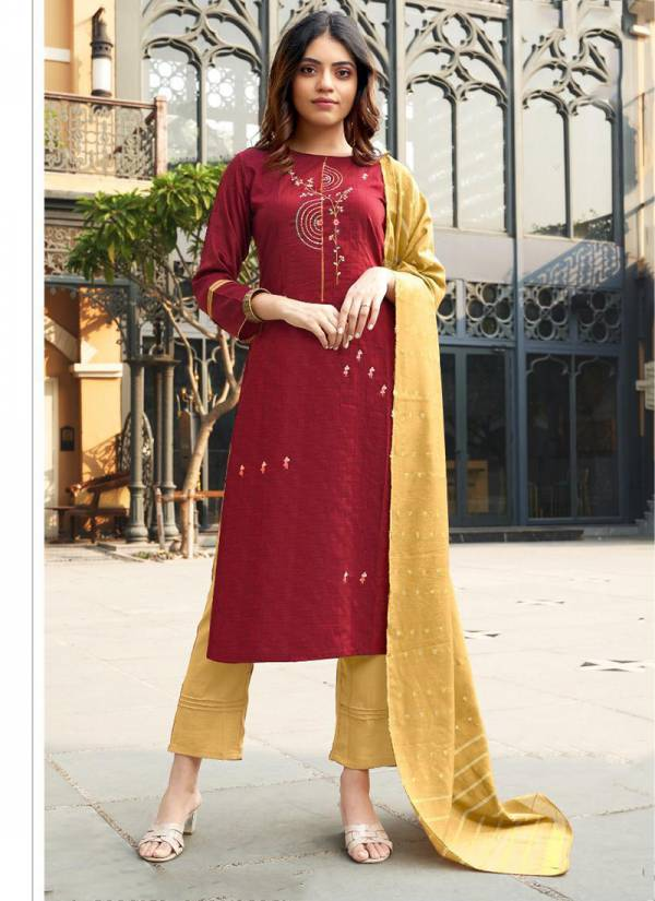 Ladies Flavour Aarohi Vol 3 Series 1001AAROHI-1006AAROHI Lining Chinon With Designer Embroidery Work Readymade Salwar Suits Collection