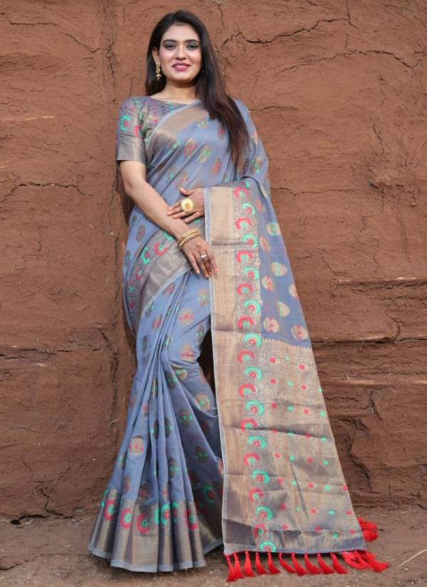 Shiv Enterprise Indian Women Lichi Pure Silk Weaving Jacquard Designer Rich Pallu Wedding Wear Designer Sarees Collection