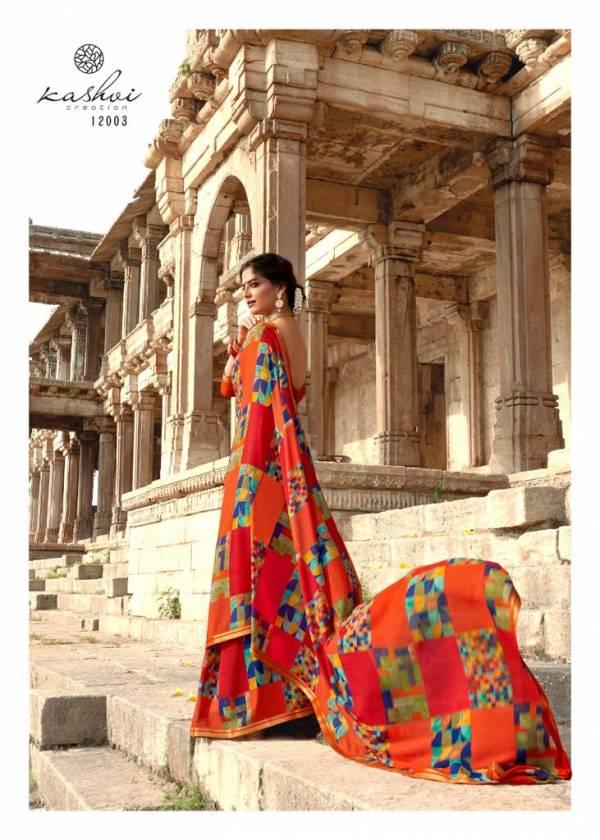 Kashvi Creation Fiza Soft Georgette Designer Fancy Casual Wear Sarees Collection