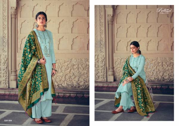 Belliza Designer Shamia Pure Jam Cotton with Heavy Embroidery work Designer Palazzo Suit Collection