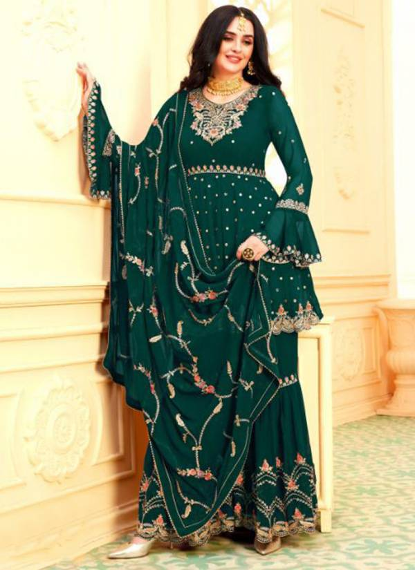 Your Choice Riyasat Series 3637-3672 Blooming Georgette Inner Santoon With Heavy Embroidery Work Eid Special Wear Salwar Suit Collections