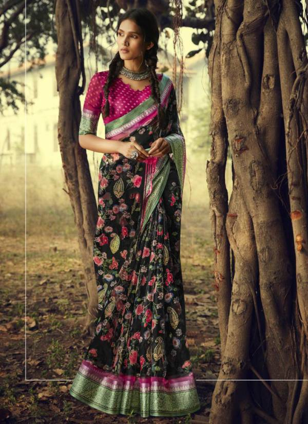 Glam Elegance Myr@ Series 0.S-181 - 0.S192 Organza Silk Fancy Printed Casual Wear Sarees Collection
