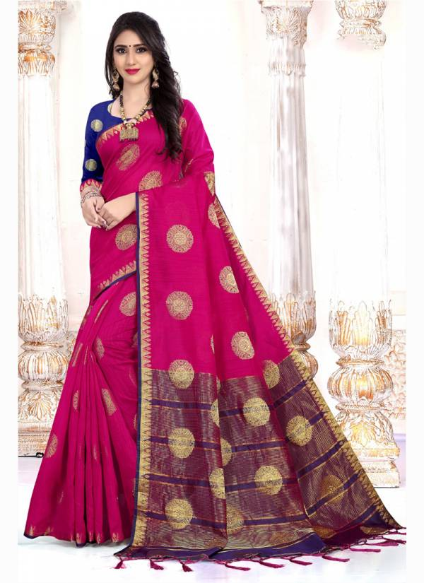 Kodas Aavran Series 8072A-8072D Cotton Silk Diamond Work Latest Designer & Fancy Saree  Collection