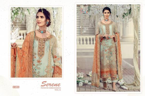 Shree Fab Serene Premium Vol-6 Series 1178-1183 Georgette With Heavy Embroidery Work Pakistani Suits Collection