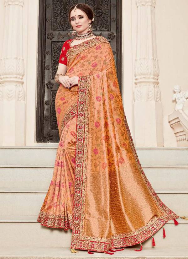 Shree Mataram Reevaz Series 3401-3409 Silk With Latest Embroidery Work Border Wedding Wear Sarees Collection