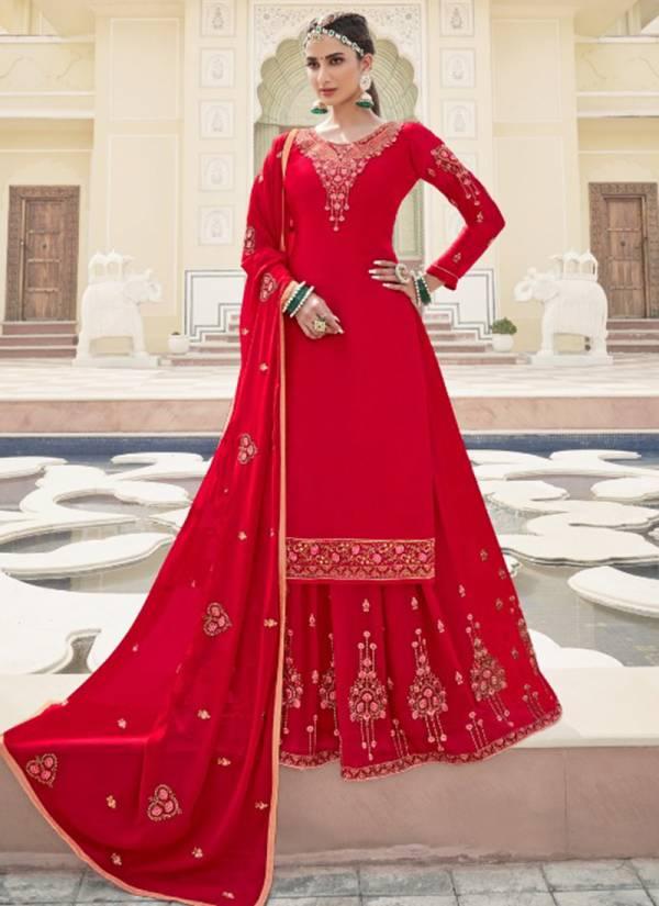 Alish Kiara Vol 6 Series 5901-5906 Satin Georgette With Santoon Inner Hand Work Wedding Wear Suits Collection