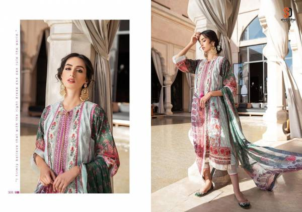 Shraddha Designer Sobia Nazir Vital Vol-3 Series 301-306 Lawn Cotton Printed With Heavy Embroidery Work Pakistani Suits Designer