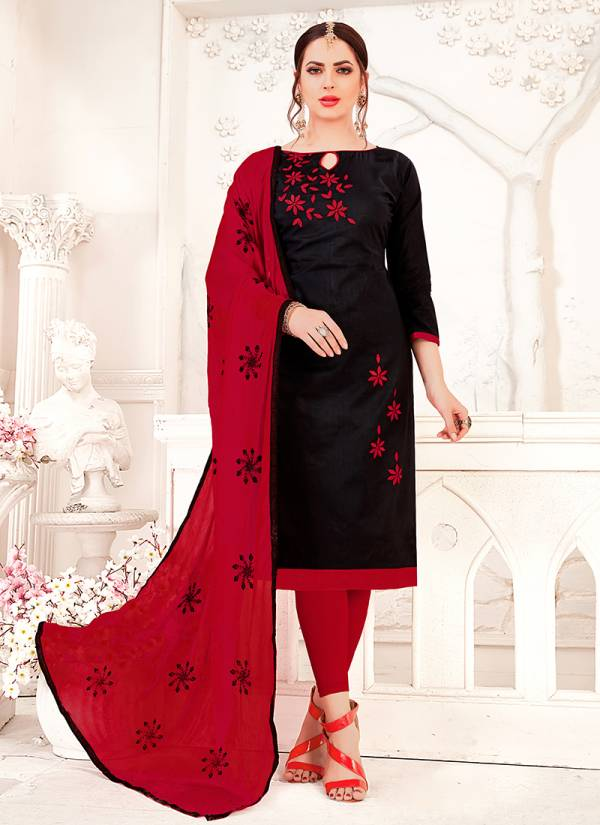 Rahul NX Candy 1001C-1012C Glass Cotton With Stylish Embroidery Work Designer Readymade Churidar Suits Collection