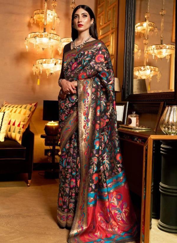 Rajtex Khyber Silk Series 140001-140006 Pure Kashmiri Modal Weaving Silk Diwali Season Sarees Collection