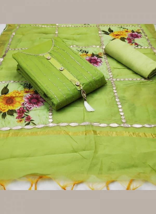 Shree Bherav Suits Series CMD1-CMD5 Chanderi  Gota Patti Work Latest Designer Festival Wear & Fancy With TrendySalwar Suits Collection