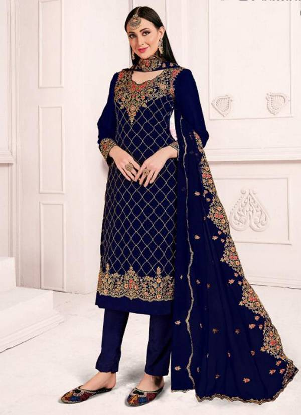 Senhora Dresses Sajda Senhora Vol 18 Series 18001-18004 Satin Georgette With Embroidery Work And Stone Work Wedding Wear Suits Collection