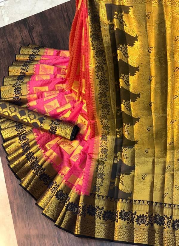 Nakshatra Fashion Studio Nylon Silk With Zari Weaving Reach Pallu Wedding Wear Designer Non Catalogues Sarees Collection