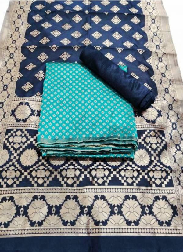 Designer Suits Banarasi Silk Bubble Heavy Banarasi Silk Designer Non Catalog Dress Material Collection