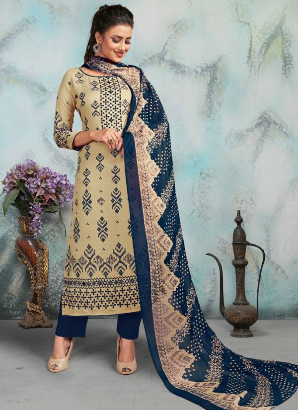 Bipson Harleen 1070 Series 1070A-1070D Latest Designer Pashmina Print Office Wear New Winter Suits Collection