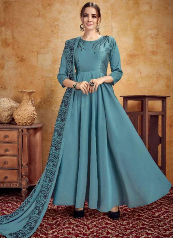 Sweety Fashion Iconic Series 1001SF-1006SF New Designer Silk With Fancy Work Dupatta Long Kurti Collection