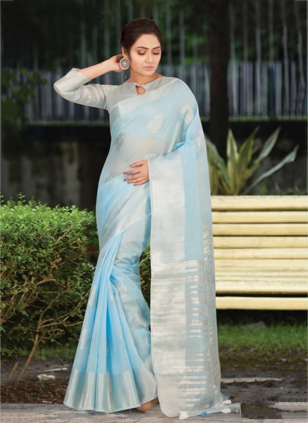 Sangam Pankhudi NX Series 1001PANKHUDI-1008PANKHUDI Linen Cotton Beautiful Colors Latest Designer Sarees Collection