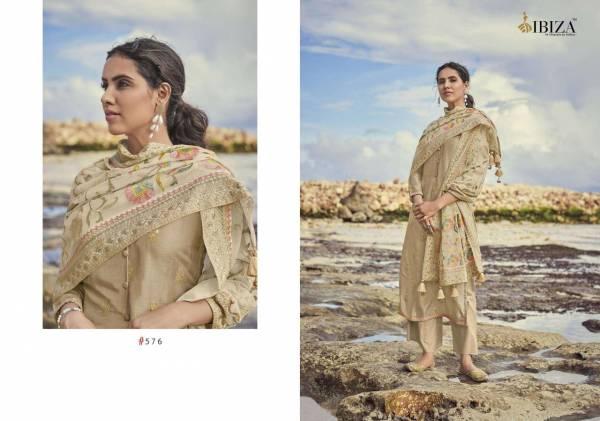 Ibiza Enara Series 575-580 Pure Russian Jacquard Silk Latest Designer Festival Wear Salwar Suits Collection