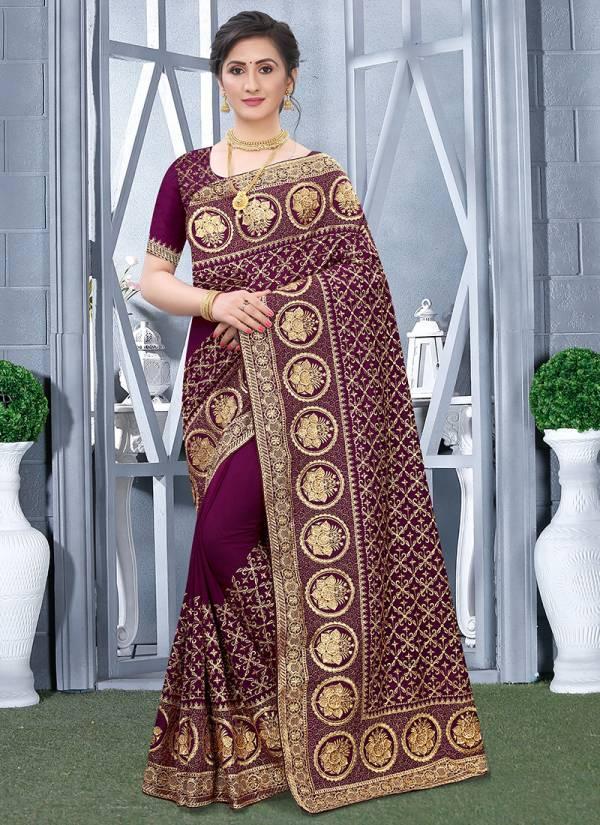 Utsav Nari Traditional Series 801-808 Vichitra Blooming Silk Heavy Zari Embroidery With Stone Work Sarees Collection